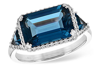 A244-93313: LDS RG 4.60 TW LONDON BLUE TOPAZ 4.82 TGW