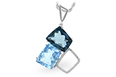 B243-16031: NECK 10.60 BLUE TOPAZ 10.73 TGW