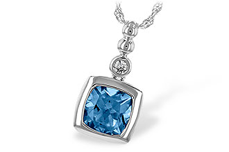 B244-05131: NECK 1.45 BLUE TOPAZ 1.49 TGW